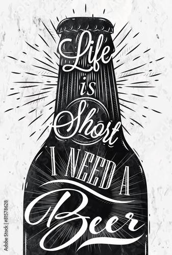 Canvas Print Poster vintage beer