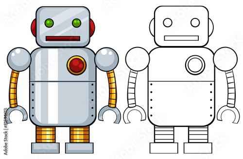Canvas Print Robot toy