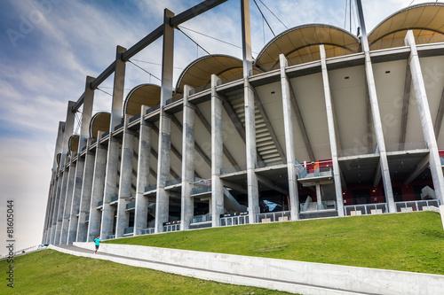 Платно The modern building of National Arena in Bucharest Romania