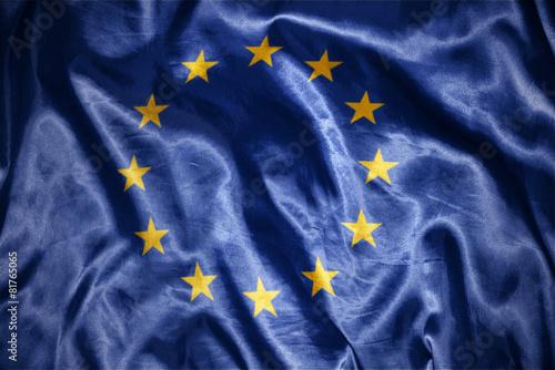 Obraz na plátně shining european union flag
