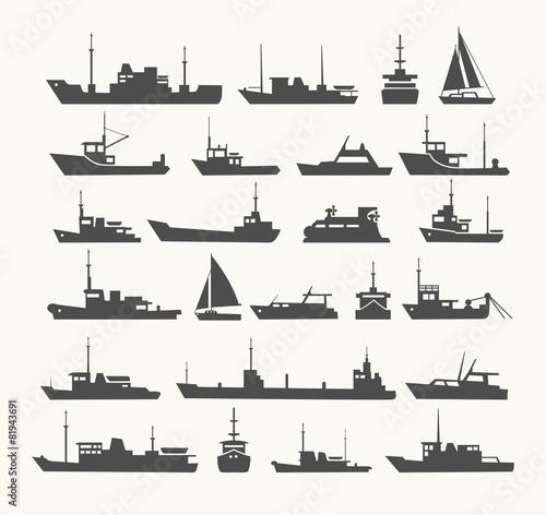 Fotografia, Obraz Ships set.