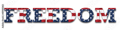 Obraz na plátne Freedom filled with American flag