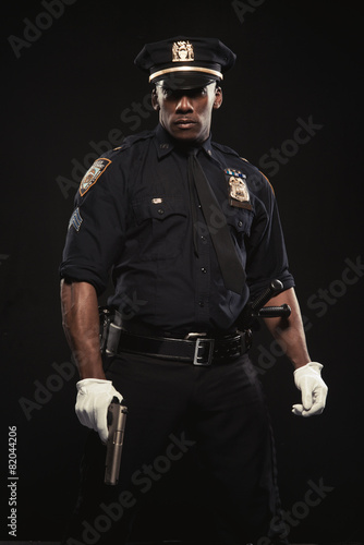 Canvas Print Good looking policeman