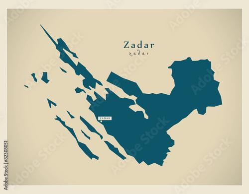 Photo Modern Map - Zadar HR