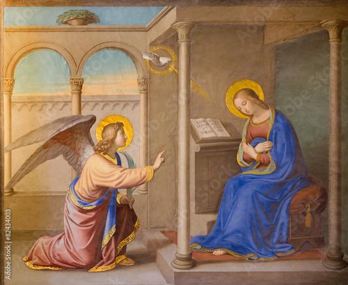 Fotografie, Obraz Rome - Annunciation fresco Chiesa della Trinita dei Monti.