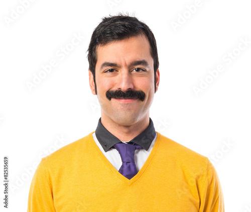 Photo Man with moustache