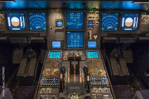 Fotografía Verkehrsflugzeug, Cockpit