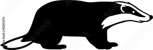 Cuadros en Lienzo Badger Silhouette