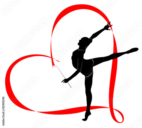 Obraz na plátně gymnastics logo