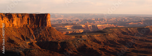 Canvas Print Sunset Soda Springs Basin Green River Canyonlands National Park
