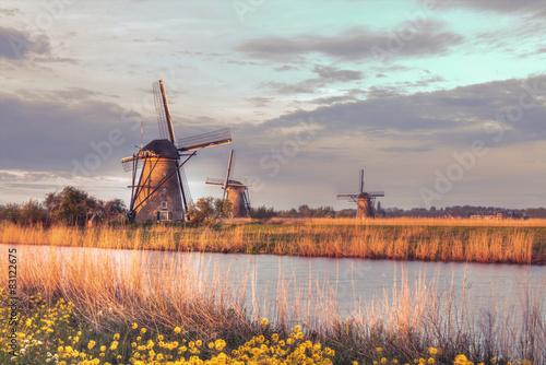 Windmills in Kinderdijk, Netherlands #83122675