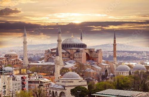 Valokuvatapetti Hagia Sophia in evening light, Istanbul, Turkey