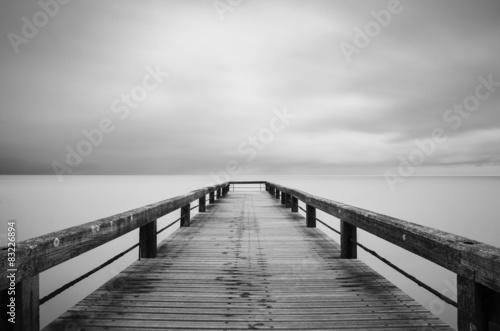 Canvas Lunga esposizione in bianco e nero