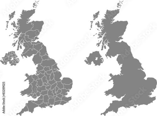 Leinwand Poster Karte des Vereinigten Königreichs