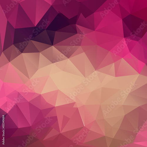 Polygon abstract texture in pink colors background for web desig #83349684