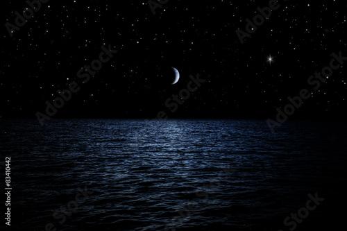 Wallpaper Mural Sternenhimmel über dem Meer