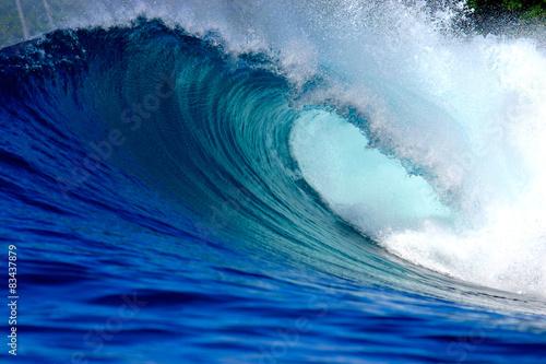 Fotografie, Obraz Modrý oceán surfování vlna