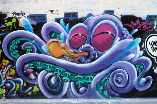 Fototapeta premium Grafitti - Octopus