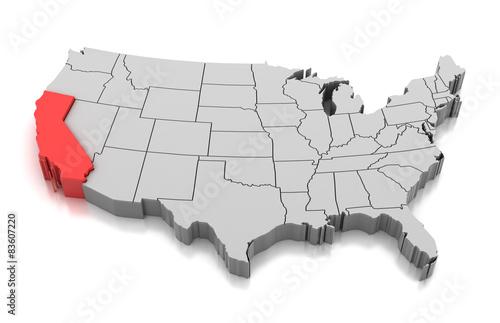 Map of California #83607220