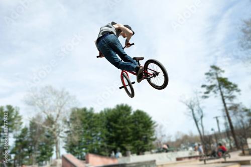 Stampa su Tela BMX Rider Jumping