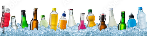 various beverages in crushed ice #83781812