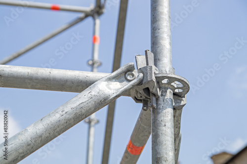 Canvas Print clamp scaffolding
