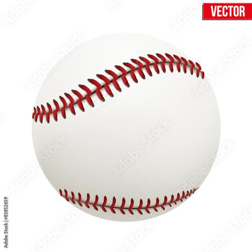 Canvas Print Vector illustration of baseball leather ball