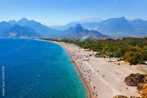 Fototapeta premium Plaża w Antalya Turcja