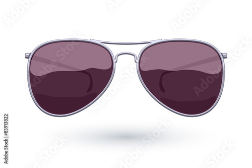 Photo Aviator sunglasses icon fashion vector illustration.