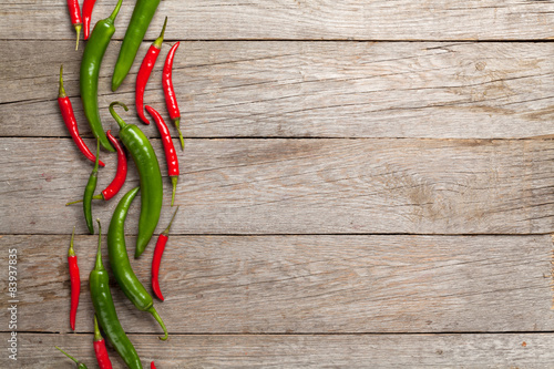Colorful chili peppers Fototapeta