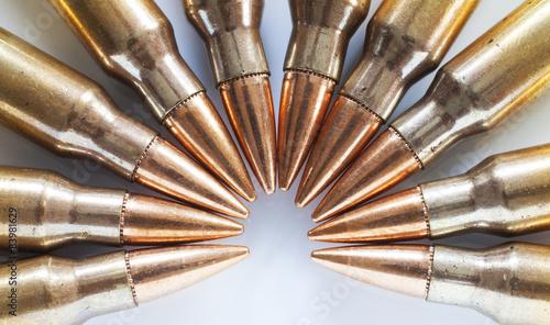 Canvas Print Armor piercing bullets in cartridges
