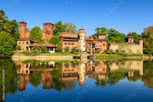 Obraz na plátně Středověká vesnice