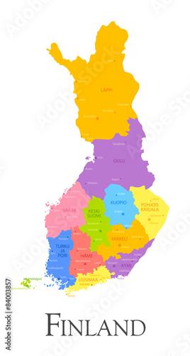 Photo Finland regional map