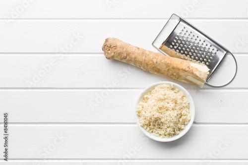 grated horseradish root Fototapet