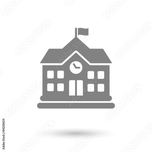 Cuadros en Lienzo flat school icon background