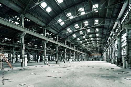 Empty floor in abandoned factory