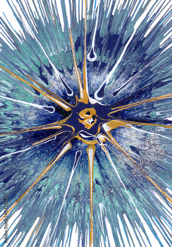 Naklejki na drzwi ekspresyjne malarstwo abstrakcyjne przedstawiające Kasjopeję