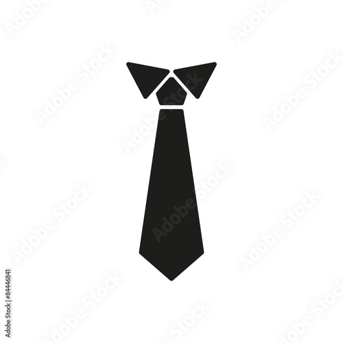 The tie icon. Necktie and neckcloth symbol. Flat Fototapeta
