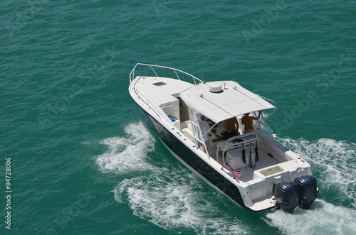 Obraz na plátne Sort Fishing Boat