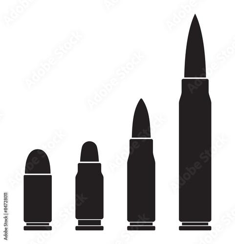 Obraz na plátně Bullets vector icons