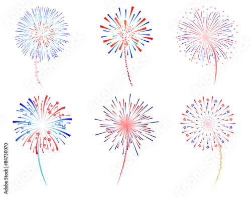 Photo Fireworks celebration vector illustration