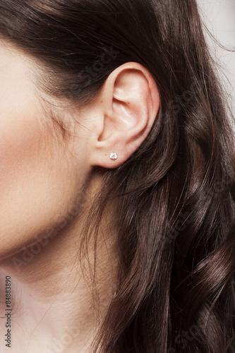 Carta da parati Woman's ear close up