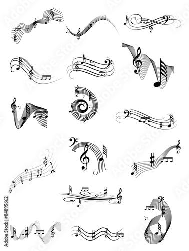 Music swirl set #84895662