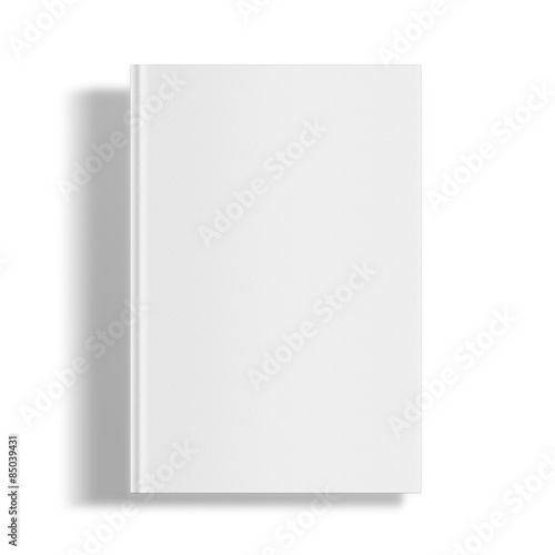 Blank book cover template. #85039431