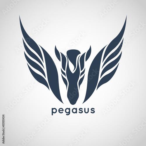 Fototapeta pegasus logo vector