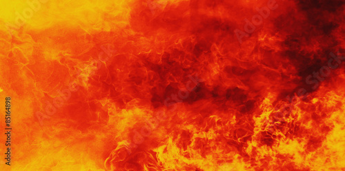Fotografia Tło ognia jako symbol piekła i piekła