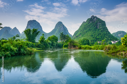 Fotografie, Obraz Karst Mountains of Guilin