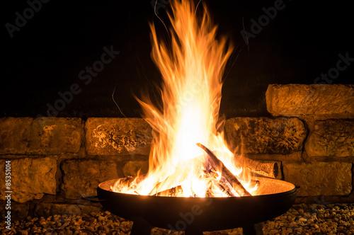 Photo Lagerfeuer, Flammen Faszination Feuerschale, Fire Bowl, Glut, Feuerholz