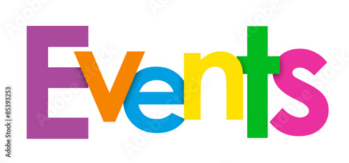 EVENTS Overlapping Letters Vector Icon #85393253