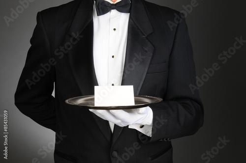 Obraz na plátně Butler S Poznámka k zásobníku
